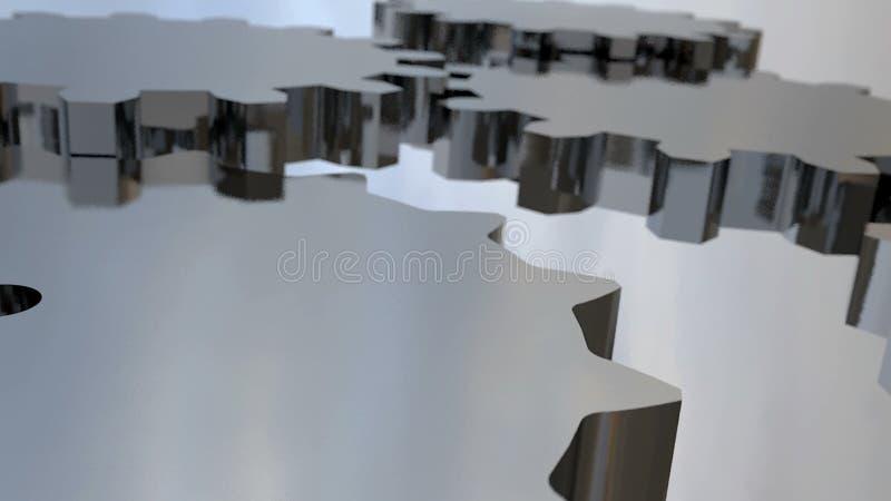 абстрактные шестерни предпосылки Иллюстрация цифров иллюстрация штока