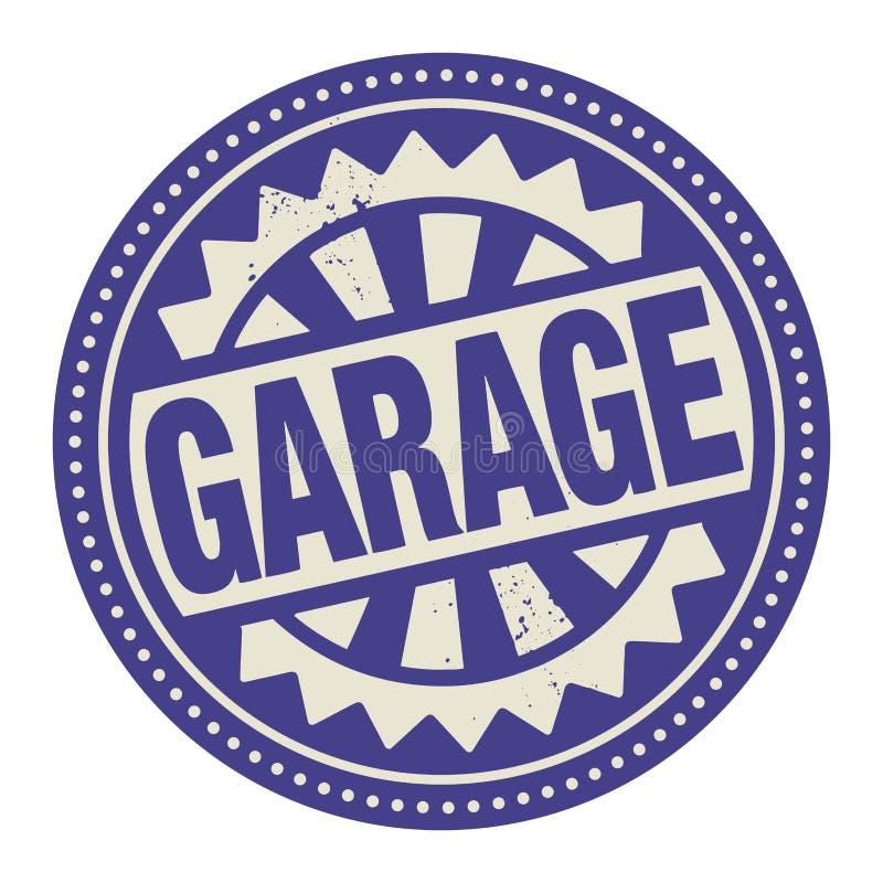 Абстрактные штемпель или ярлык при гараж текста написанный внутрь иллюстрация штока