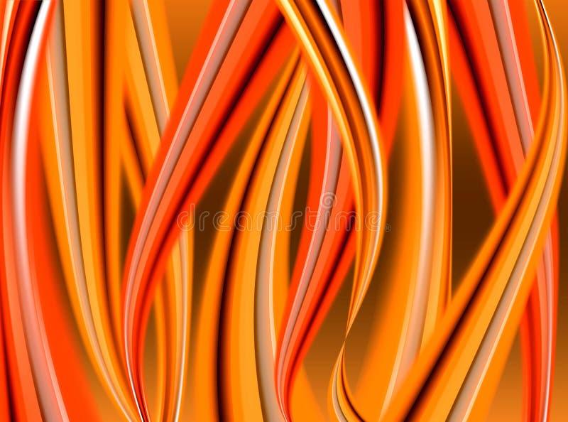абстрактные языки пламени иллюстрация вектора