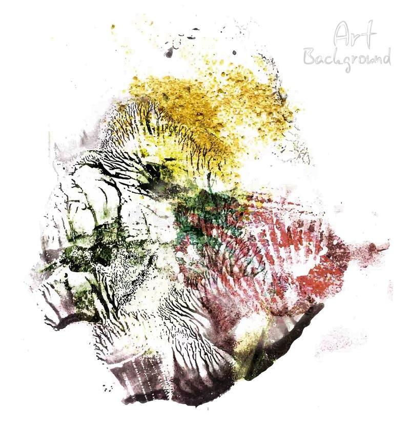 Download Абстрактные Handmade щетки масла Иллюстрация штока - иллюстрации насчитывающей handmade, декор: 40586720