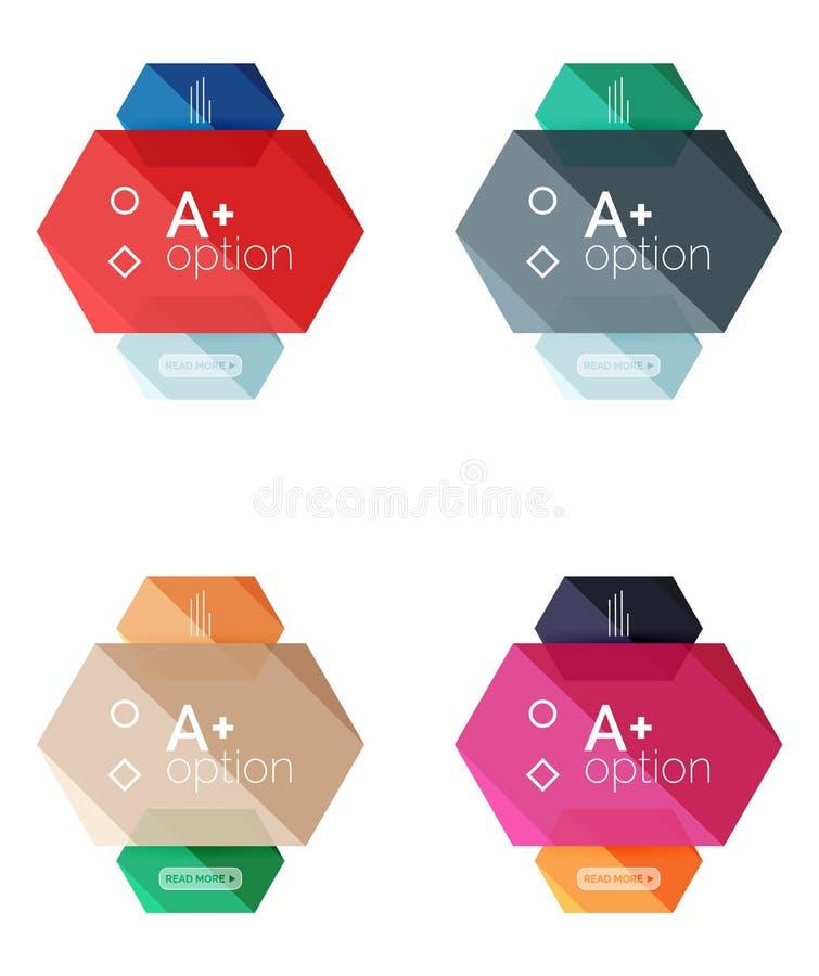 Download Абстрактные Infographic знамена для вашего содержания Иллюстрация вектора - иллюстрации насчитывающей интерфейс, вариант: 81805568
