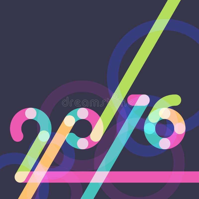Абстрактные multicolor предпосылка Нового Года 2016 черная с местом fo бесплатная иллюстрация