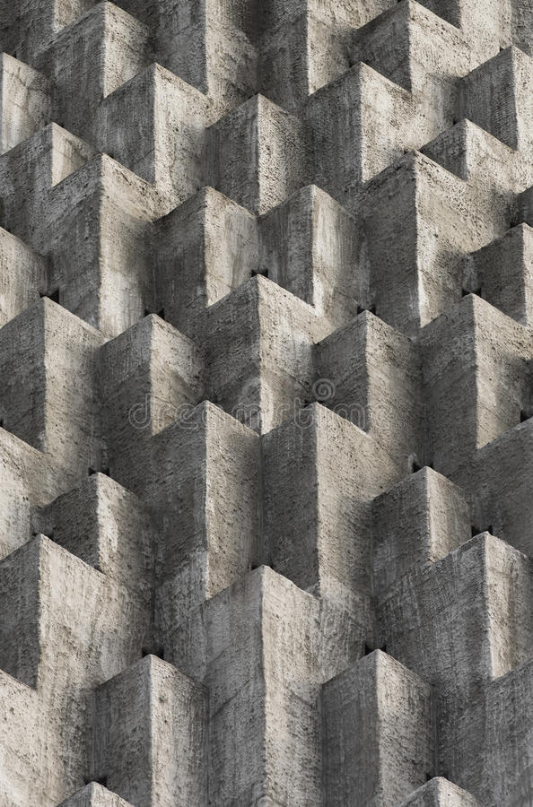 Абстрактные protusions куба на цементе стоковая фотография rf