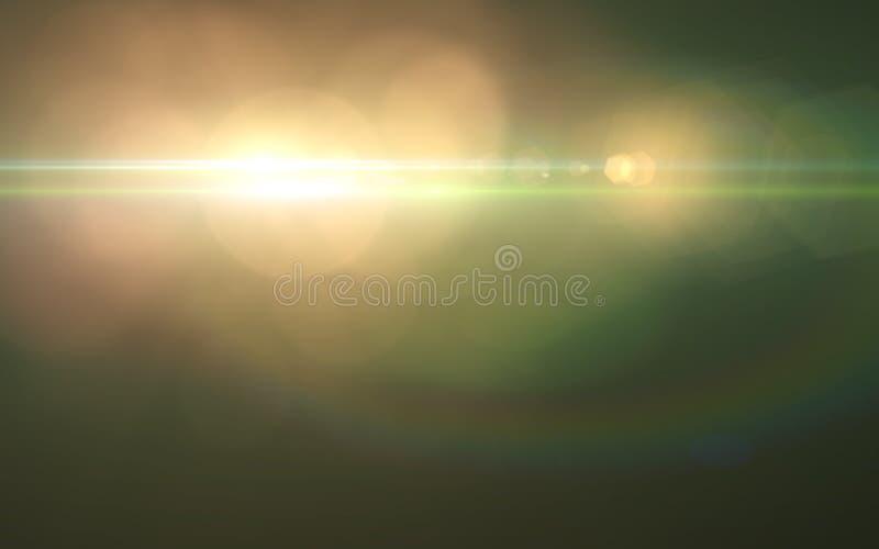 Абстрактные spacescape, скорость света и пирофакел объектива бесплатная иллюстрация
