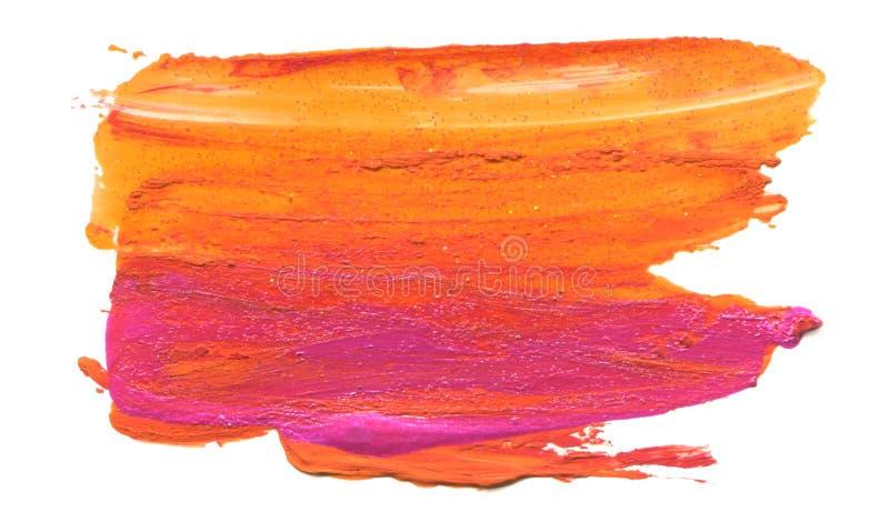 Абстрактный акриловый ход щетки цвета изолировано стоковые изображения rf