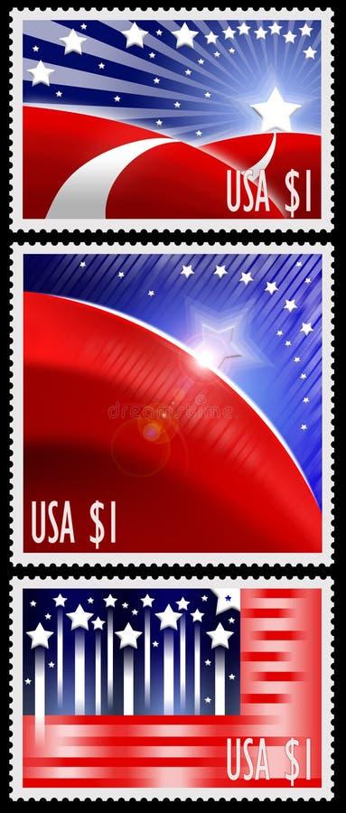 абстрактный американский флаг штемпелюет США бесплатная иллюстрация