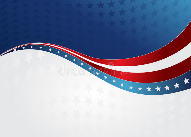 абстрактный американский флаг иллюстрация штока