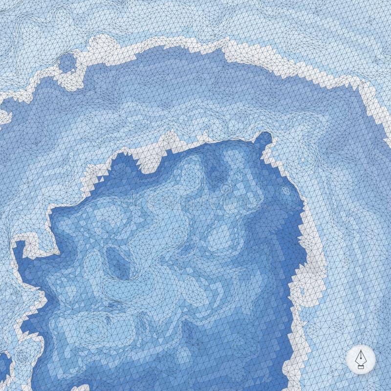 абстрактный ландшафт предпосылки Вектор мозаики иллюстрация вектора