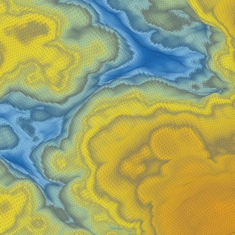абстрактный ландшафт предпосылки мозаика вектор иллюстрации 3d иллюстрация штока