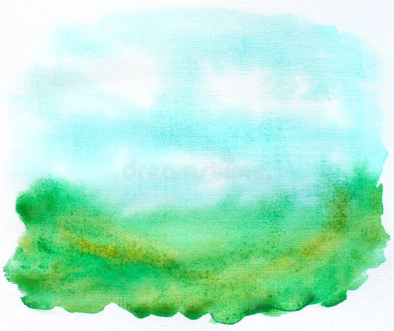 Абстрактный ландшафт пятен иллюстрация вектора