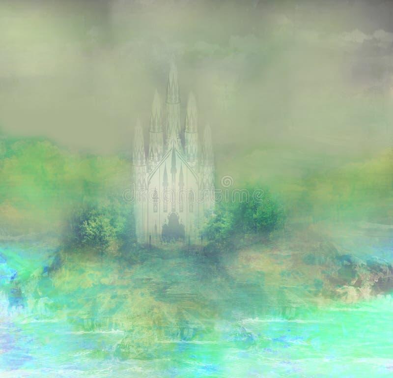 Download Абстрактный ландшафт с старым замком Иллюстрация штока - иллюстрации насчитывающей роскошь, зодчества: 41654033
