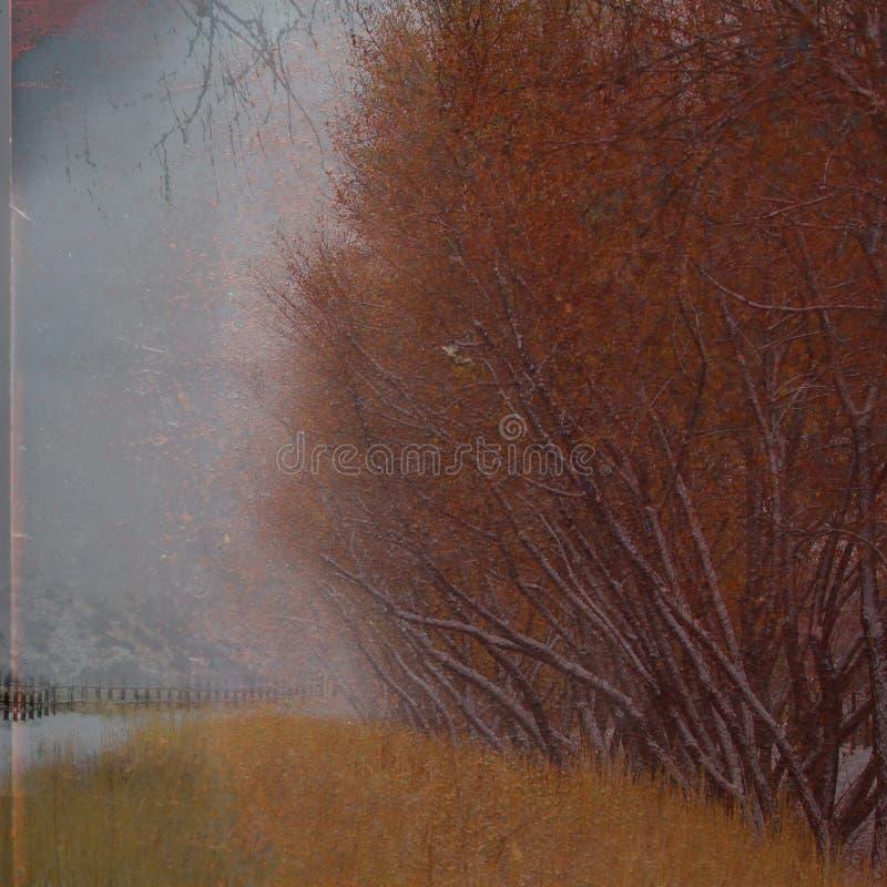 Абстрактный ландшафт grunge. стоковая фотография rf