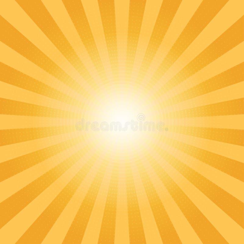 Абстрактный апельсин солнечных лучей излучает предпосылку бесплатная иллюстрация