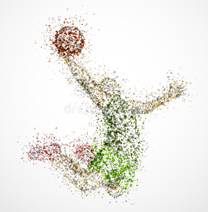 абстрактный баскетболист иллюстрация вектора