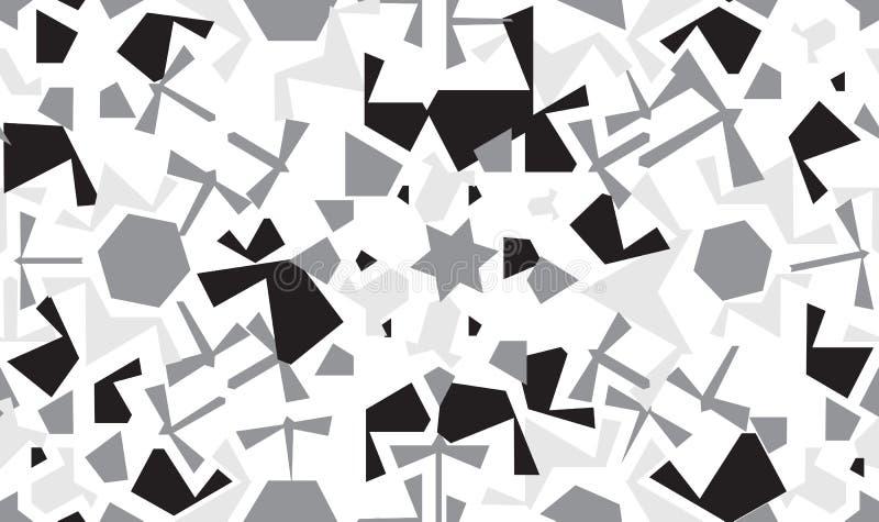 Абстрактный безшовный дизайн картины со случайными геометрическими формами иллюстрация вектора