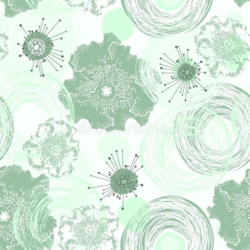 Download Абстрактный безшовный цветочный узор Иллюстрация штока - иллюстрации насчитывающей иллюстрация, безшовно: 37925396