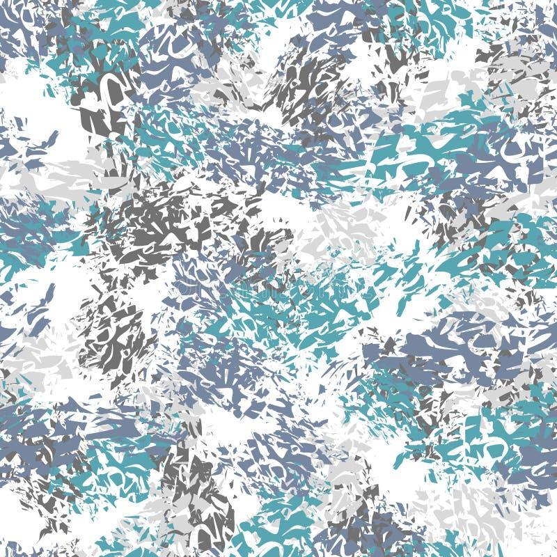 Абстрактный безшовный brushstroke картины, пятна краски Воинский ба иллюстрация вектора