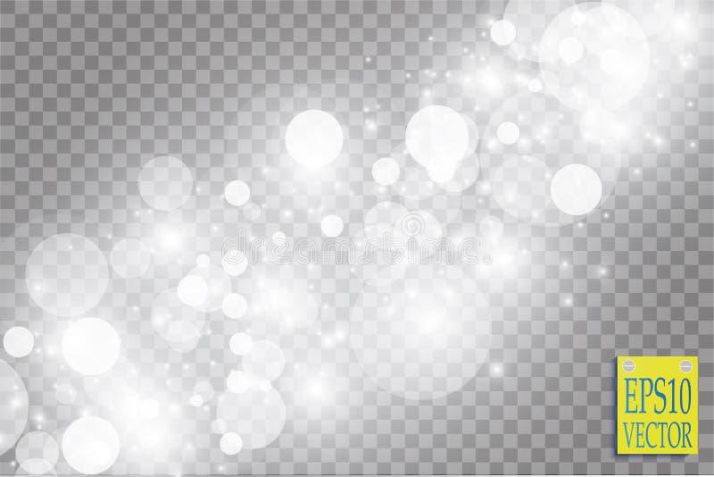 Абстрактный белый взрыв влияния bokeh с дизайном искр современным Разрыванная звезда зарева или световой эффект фейерверка sparkl бесплатная иллюстрация