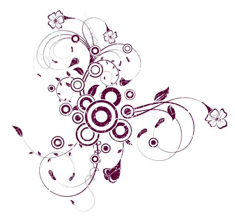абстрактный беспорядок флористический иллюстрация вектора