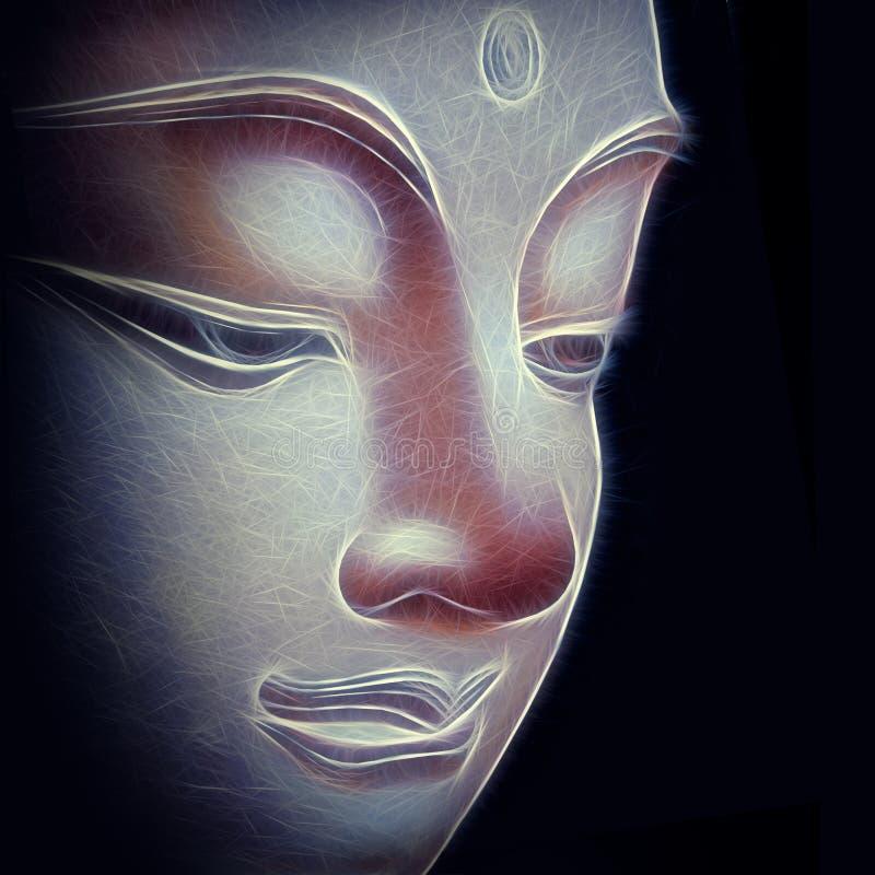 абстрактный Будда иллюстрация вектора