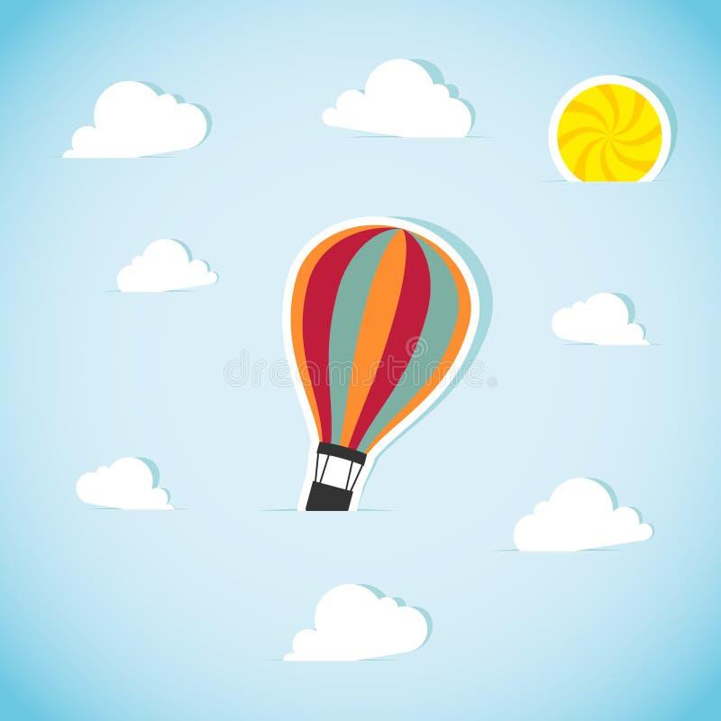 Абстрактный бумажный воздушный шар иллюстрация вектора