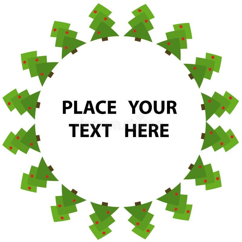 абстрактный вал зеленого цвета рождества иллюстрация штока