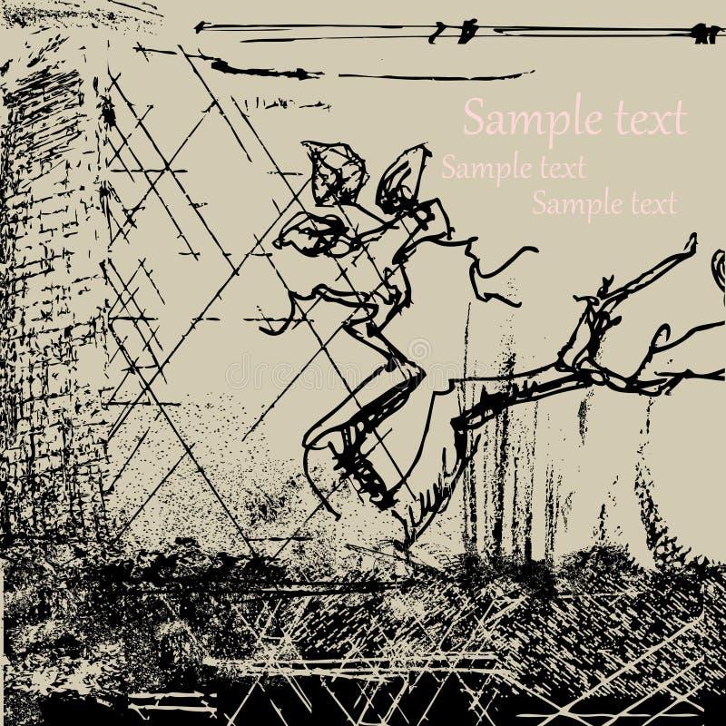 абстрактный вал grunge ветви предпосылки бесплатная иллюстрация