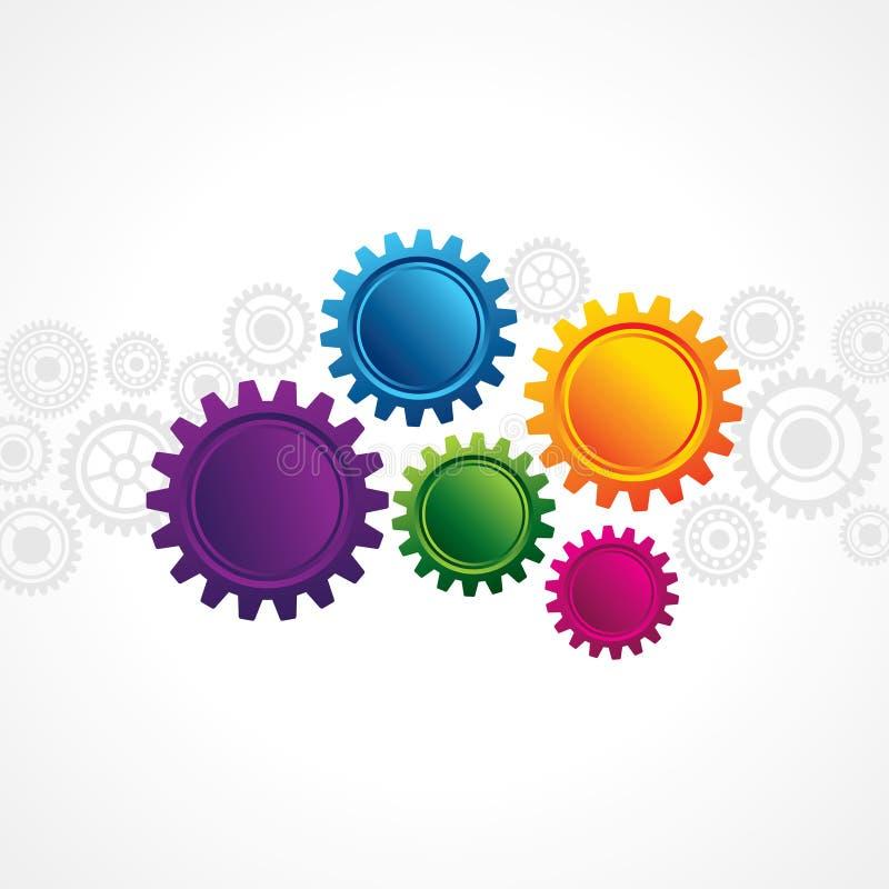 Абстрактный веб-дизайн с космосом экземпляра в колесе cog иллюстрация вектора