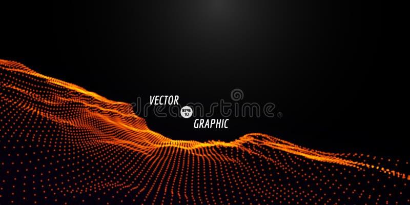 абстрактный вектор ландшафта иллюстрация вектора