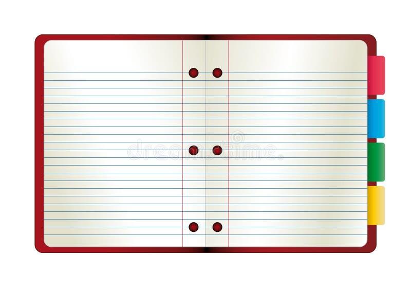 абстрактный вектор бумаги тетради иллюстрации иллюстрация вектора