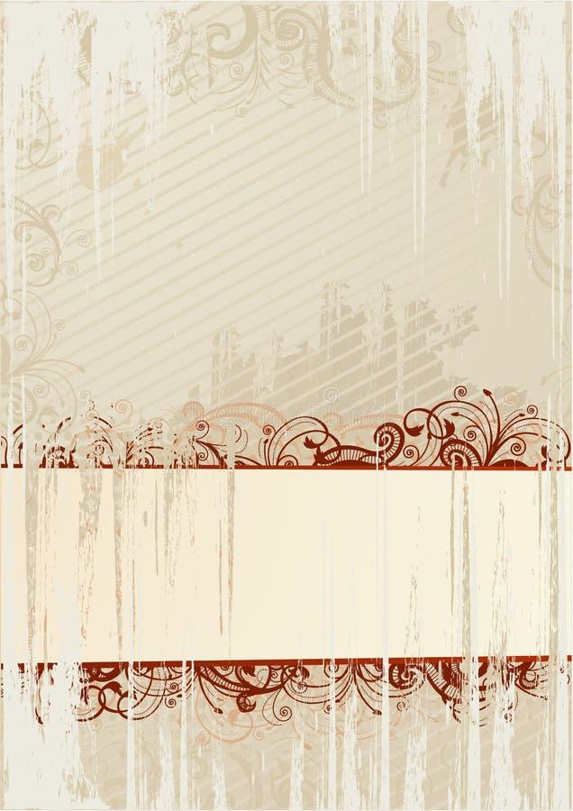 абстрактный вектор иллюстрации grunge рамки иллюстрация штока