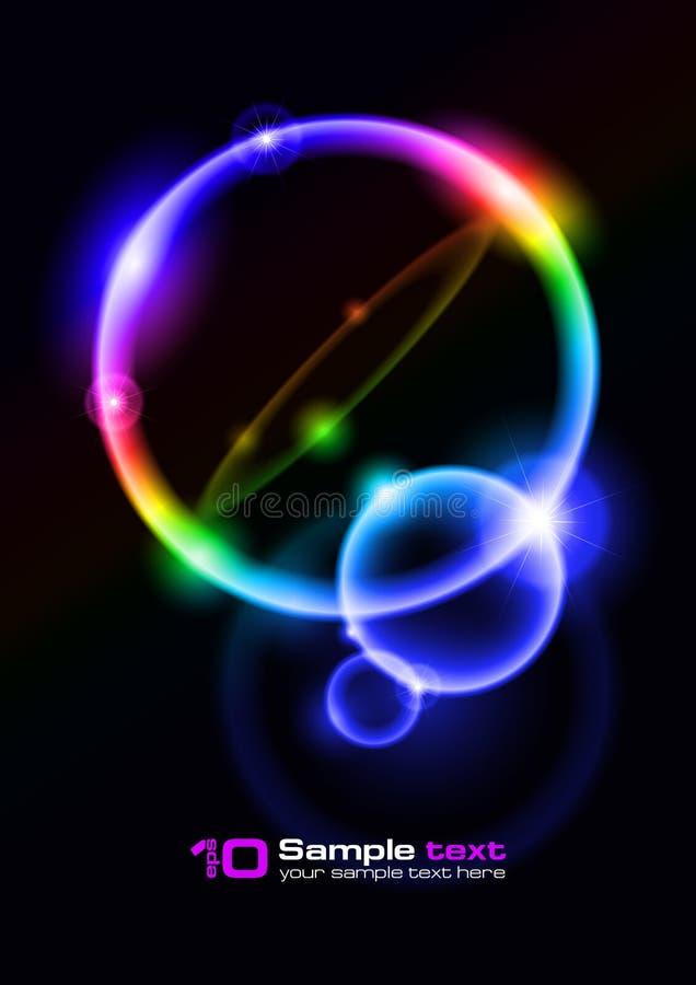 абстрактный вектор конструкции пузырей иллюстрация вектора