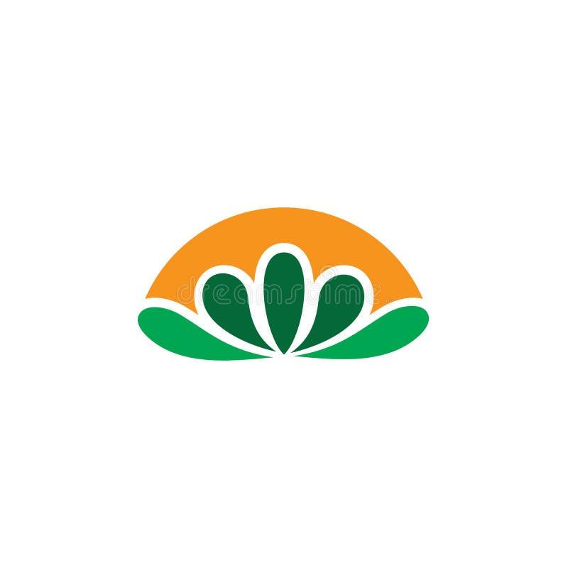 Абстрактный вектор логотипа eco лист бесплатная иллюстрация
