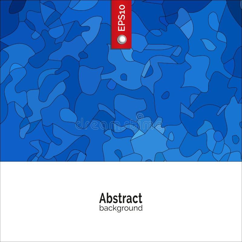 абстрактный вектор предпосылки Шаблон для фирменного стиля, рекламы, плаката, события в голубом цвете иллюстрация вектора