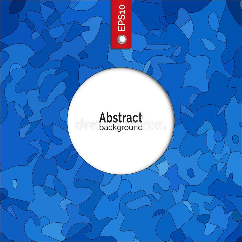 абстрактный вектор предпосылки Шаблон для фирменного стиля, рекламы, плаката, события в голубом цвете бесплатная иллюстрация