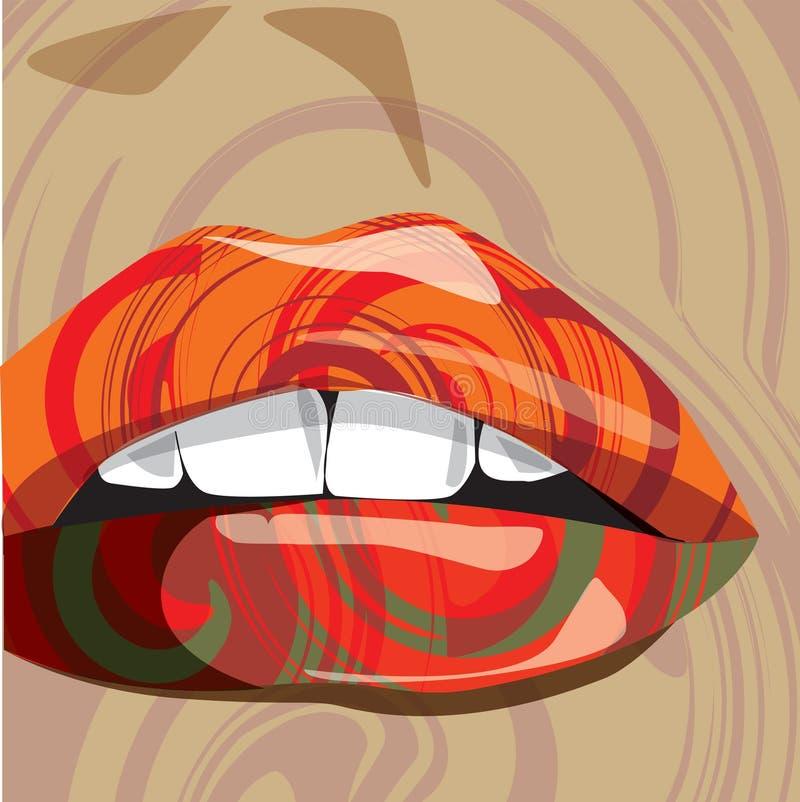 абстрактный вектор рта иллюстрация штока