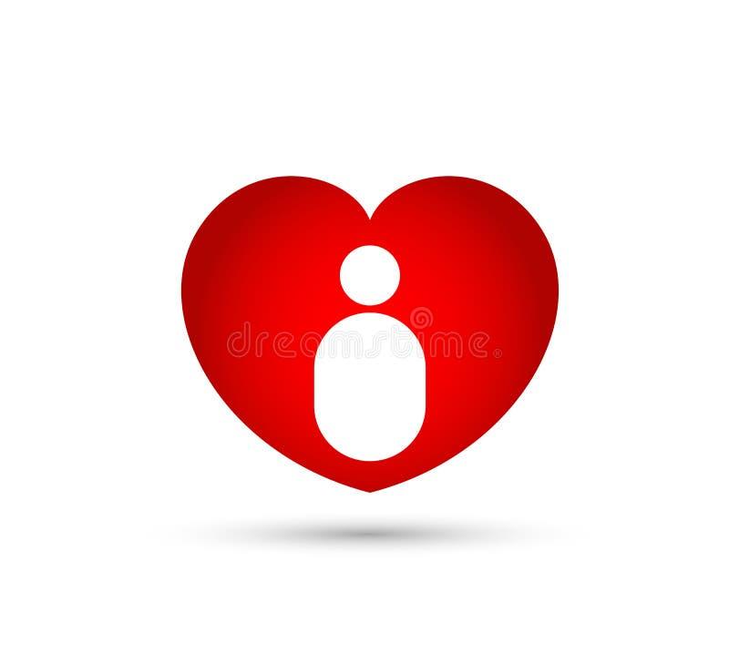 Абстрактный вектор сердца иллюстрация штока