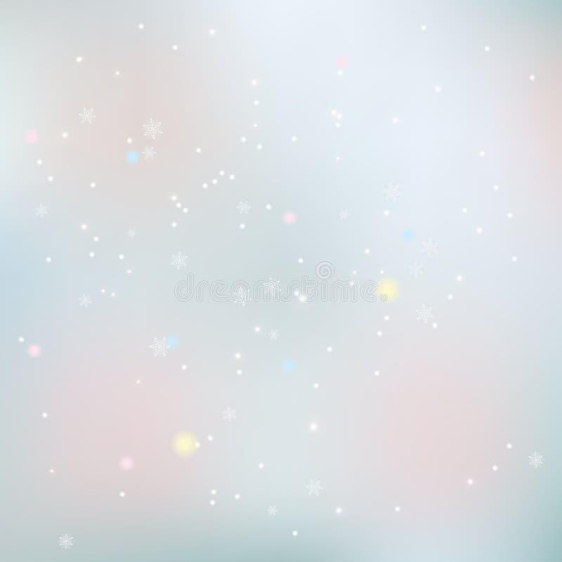 абстрактный вектор снежинок иллюстрации рождества предпосылки иллюстрация штока