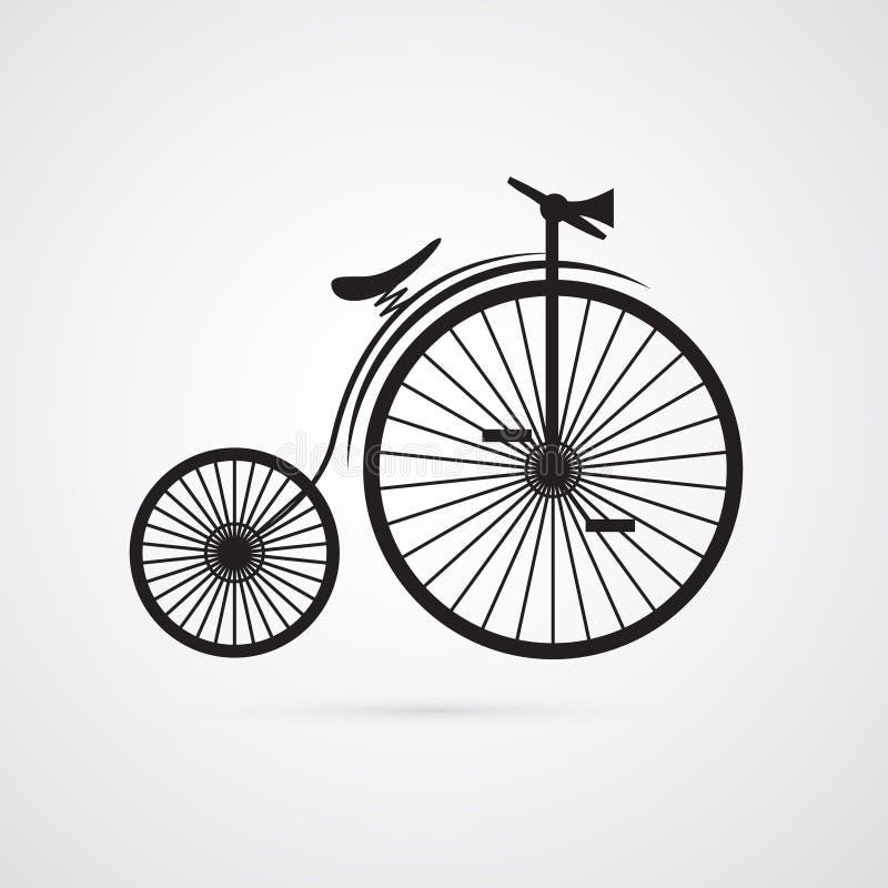 Абстрактный вектор старый, винтажный велосипед, велосипед иллюстрация вектора