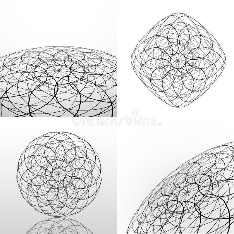 абстрактный вектор форм бесплатная иллюстрация