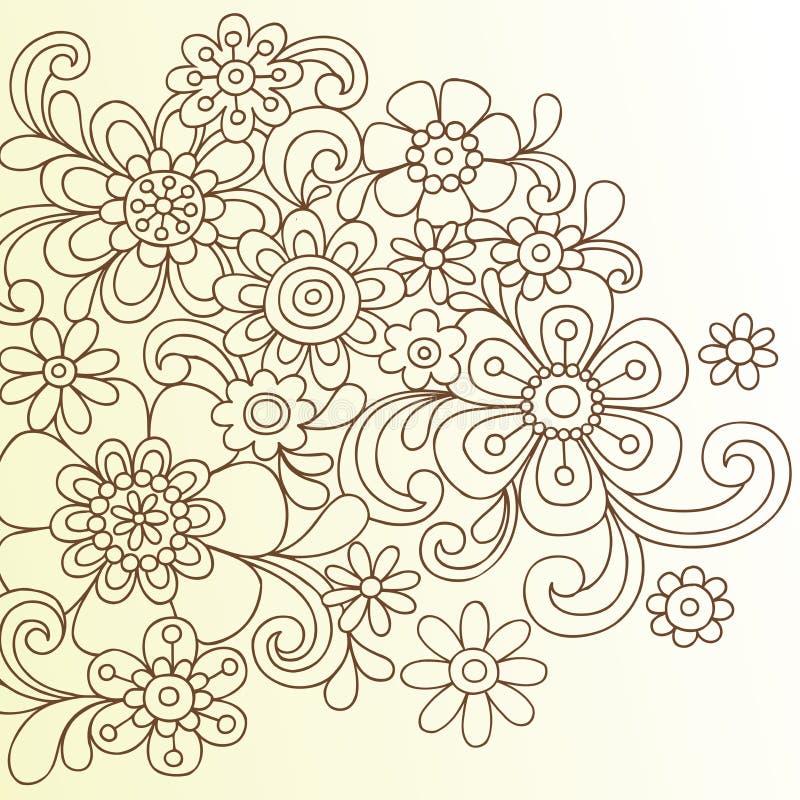 абстрактный вектор хны цветка doodle бесплатная иллюстрация