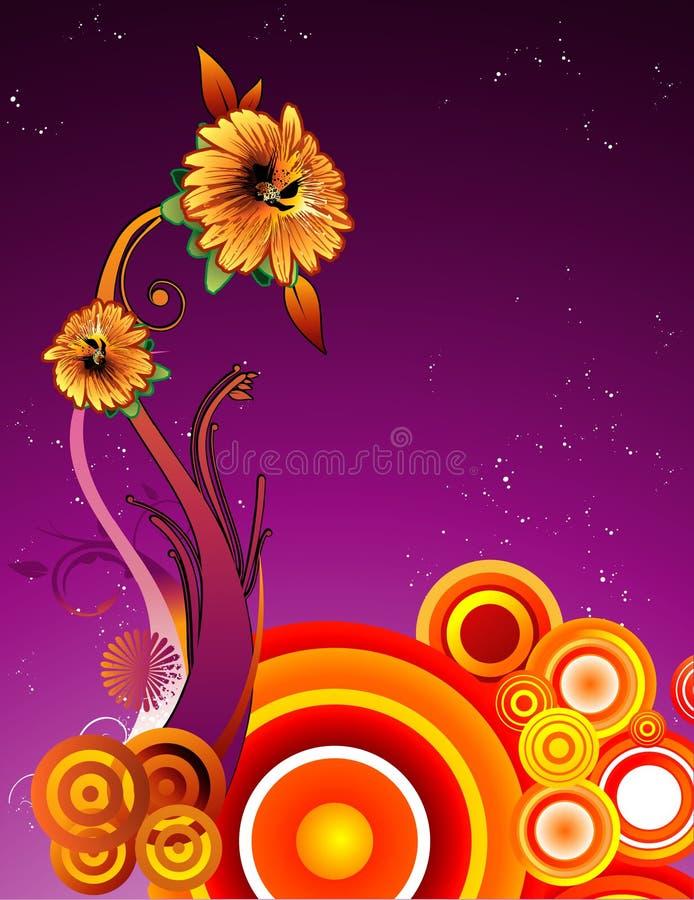 абстрактный вектор цветка иллюстрация вектора