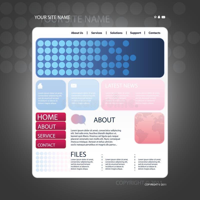 Абстрактный вектор шаблона конструкции вебсайта дела бесплатная иллюстрация