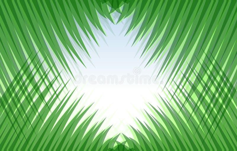 Абстрактный взгляд через симметричную траву бесплатная иллюстрация