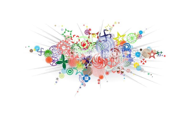 абстрактный взрыв цвета предпосылки бесплатная иллюстрация