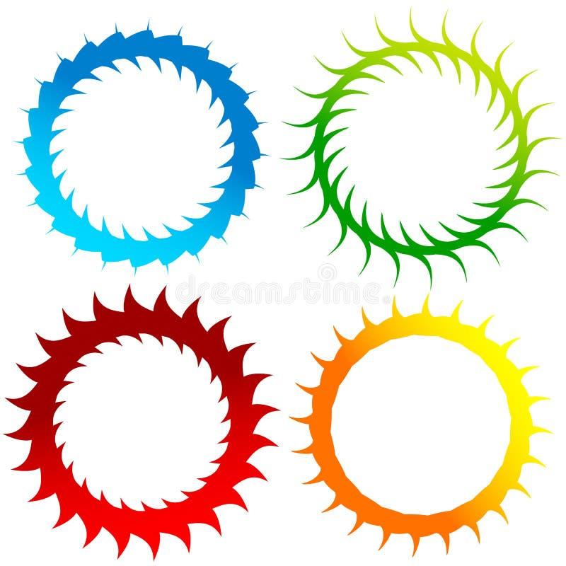 Абстрактный вортекс, спиральные элементы Геометрическое круговое illustrat иллюстрация вектора