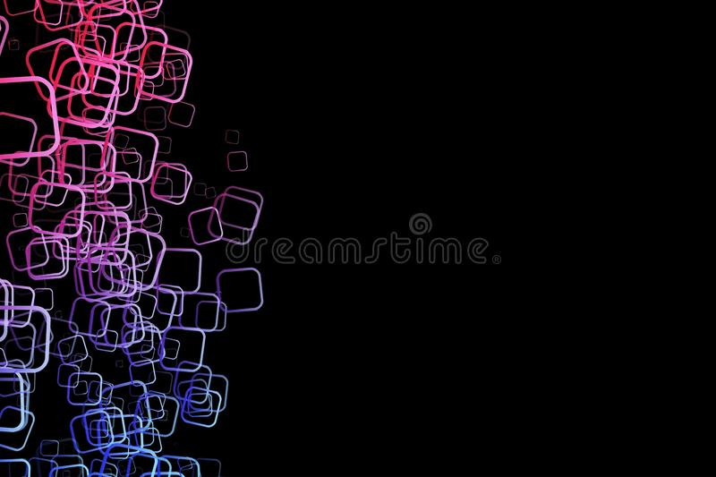 Абстрактный геометрический дизайн квадратов круглых углов бесплатная иллюстрация