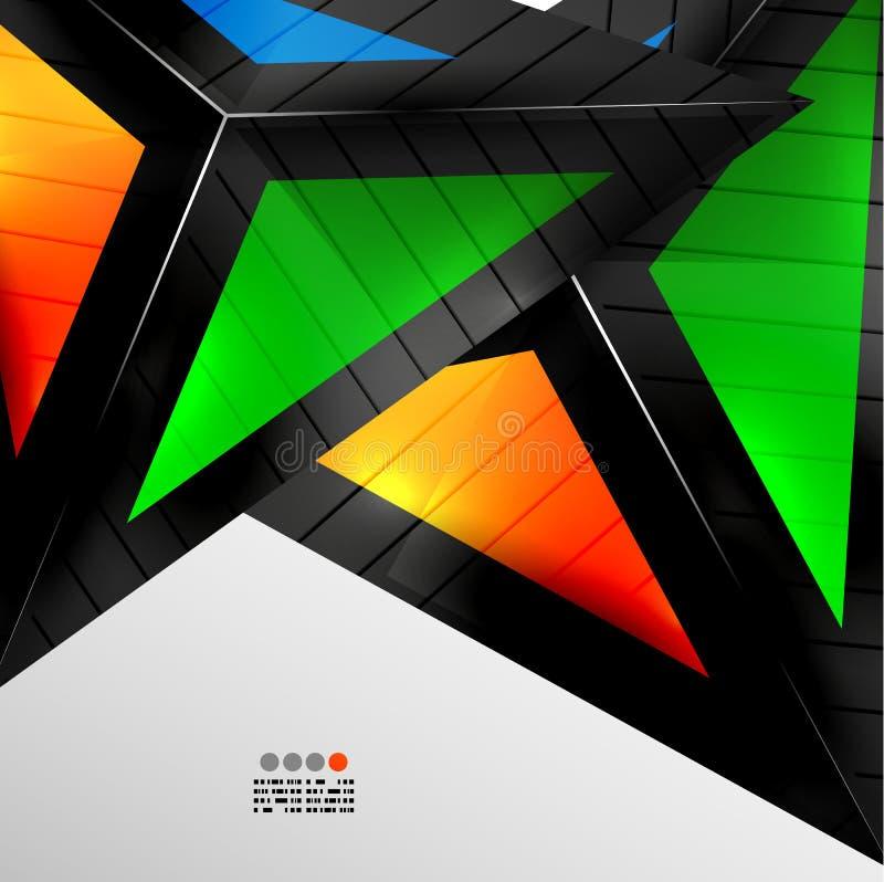 Абстрактный геометрический дизайн 3D бесплатная иллюстрация