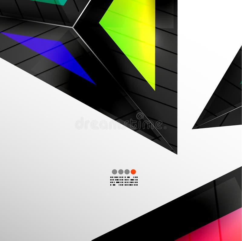 Абстрактный геометрический дизайн 3D иллюстрация штока