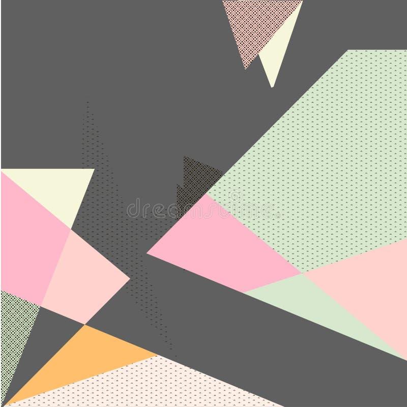 Абстрактный геометрический красочный состав с текстурами стоковая фотография
